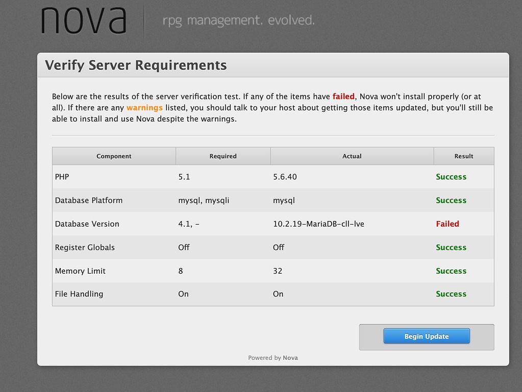 Nova - Update Guide