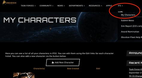 New Character Hub in IFS2!