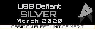 Gold Unit of Merit Winner Quarter 1 2020